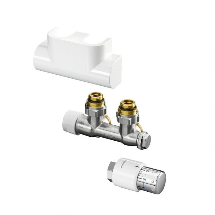 Zestaw przyłączeniowy kątowy Multiblock T/Uni SH do grzejników łazienkowych biały
