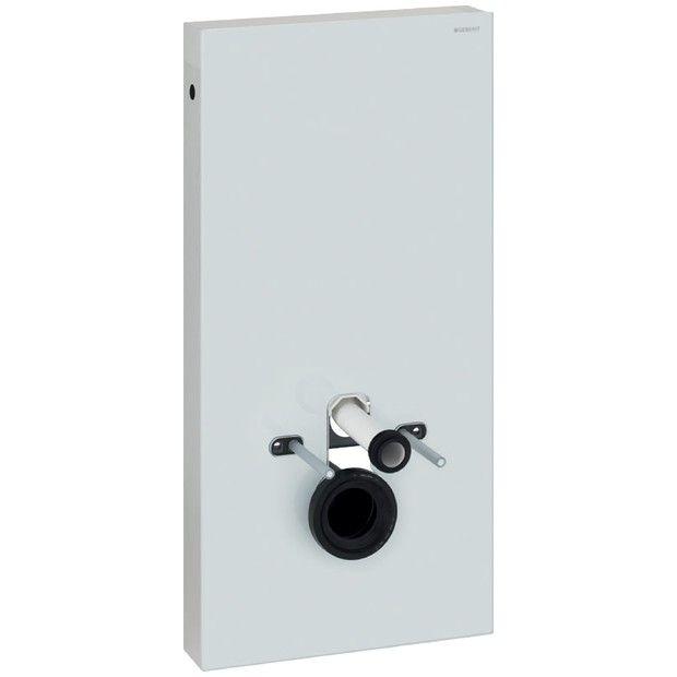 Moduł sanitarny Monolith do WC wiszącego szkło biały/aluminium 482 x 1010 x 106 mm