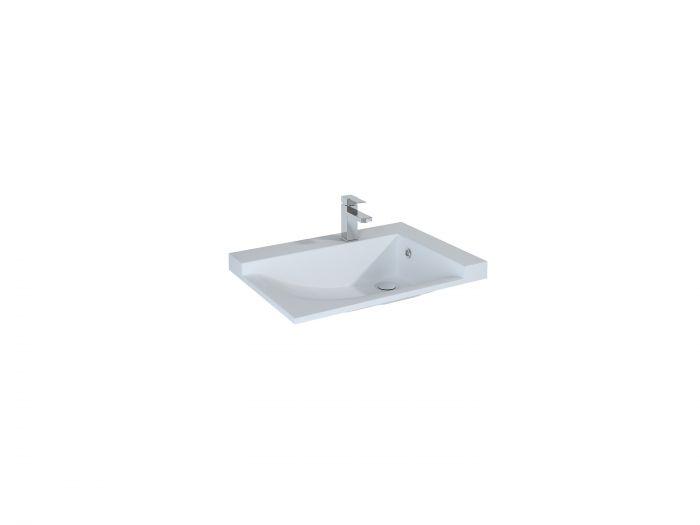 Metis,  umywalka meblowa strona lewa 720 x 500 x 50 mm biała