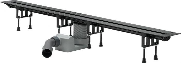 Advantix Vario odwodnienie prysznicowe 4965.10 z możliwością bezstopniowego dopasowania długości L= 300-1200 mm H= 95-150 mm