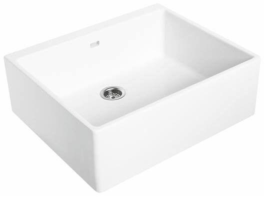 NOVA PRO zlew ceramiczny 1-komorowy 600 x 500 x 200 mm biały
