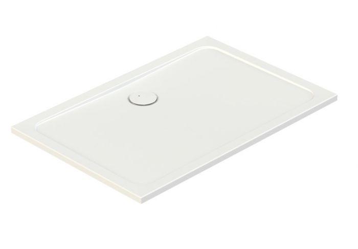 Free Line B/FREE 80x140x2,5+STB brodzik akrylowy prostokątny 140 x 80 x 2.5 cm biały EW stelaż STB