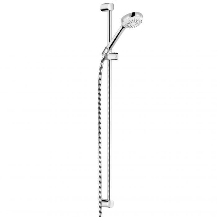 LOGO 1S zestaw natryskowy 900 mm chrom zawiera: pręt ścienny 900 mm, rączkę natrysku i wąż LOGOFLEX 1600 mm