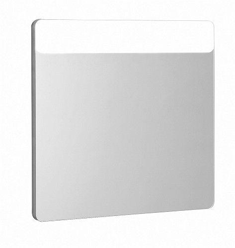 TRAFFIC lustro prostokątny z oświetleniem LED boki aluminium satynowe 700 x 35 x 650 mm