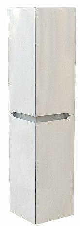 MODO szafka boczna wisząca, wysoka 4 drzwiczek 330 x 350 x 1500 mm biała połysk