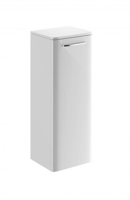 Nova Pro szafka boczna wisząca 1 drzwiczki, chromowany uchwyt 330 x 280 x 866 mm biała połysk