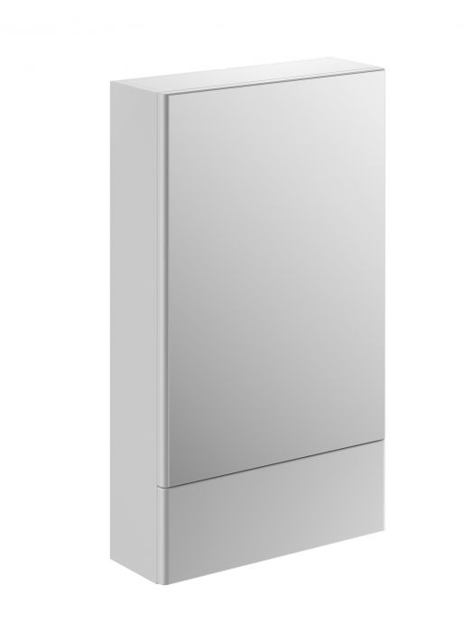 Nova Pro szafka wisząca 1 drzwiczki z lustrem i dodatkową zamykaną półką 493 x 176 x 850 mm biała połysk z lustrem