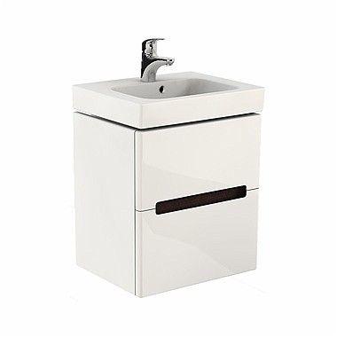 Modo szafka podumywalkowa wisząca 2 szuflady 490 x 395 x 550 mm biała połysk