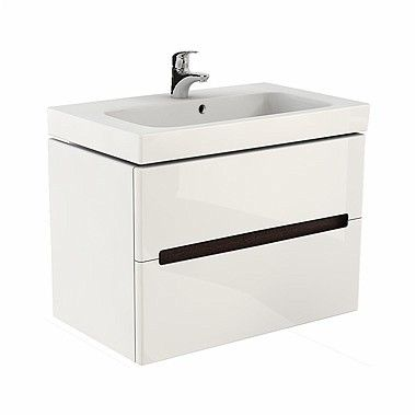 MODO szafka podumywalkowa wisząca 2 szuflady 790 x 479 x 550 mm biała połysk