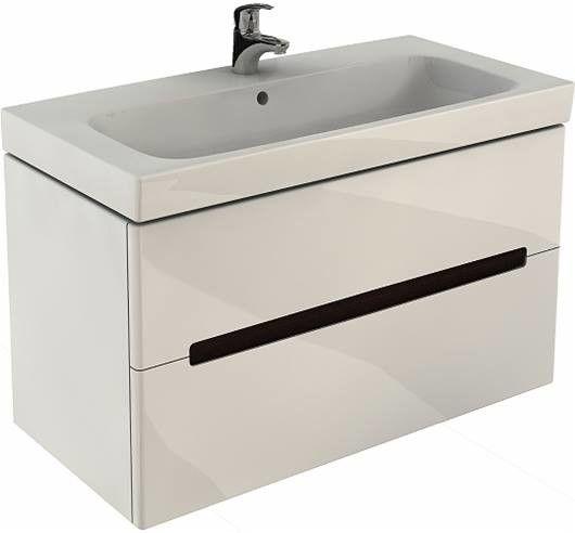 MODO szafka podumywalkowa wisząca 2 szuflady 990 x 479 x 550 mm biała połysk