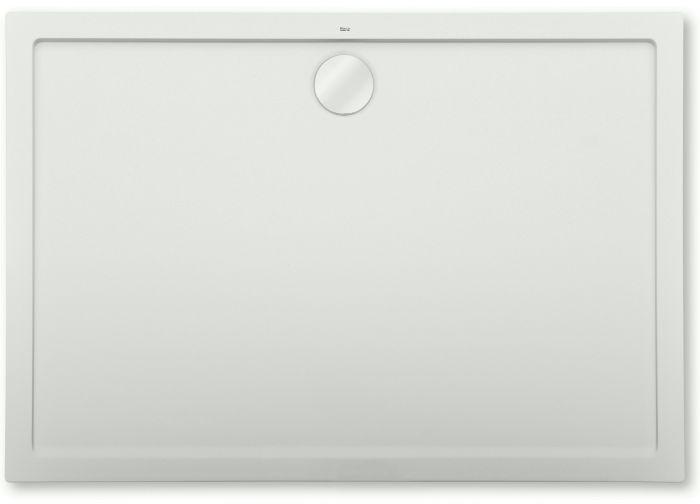 AERON brodzik konglomeratowy STONEX prostokątny 100 x 80 x 3.5 cm biały zawiera syfon PD5000165
