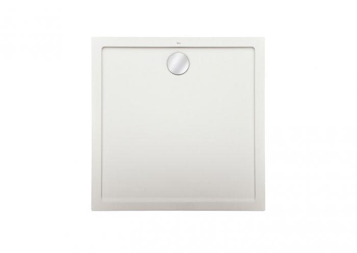 AERON brodzik konglomeratowy STONEX kwadratowy 90 x 90 x 3.5 cm biały zawiera syfon PD5000165