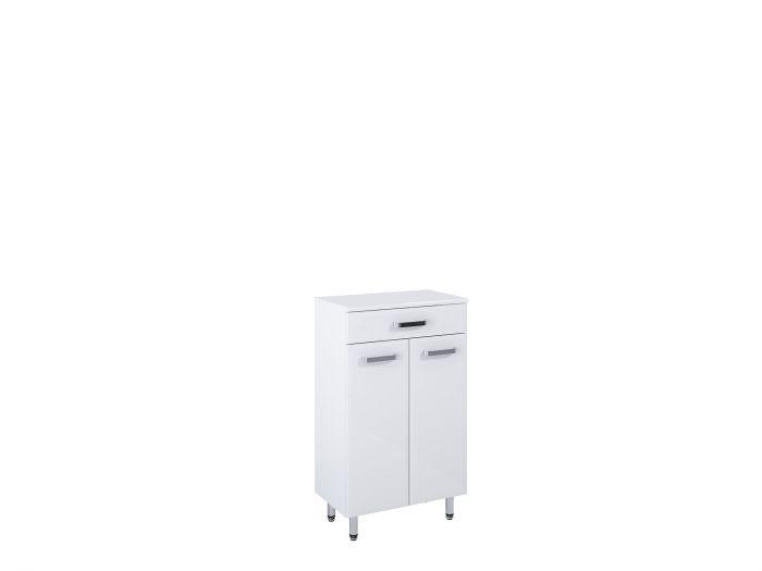 Amigo komoda stojąca 50 2D 1S 2 drzwiczek, 1 szuflada 500 x 291 x 841 mm biała