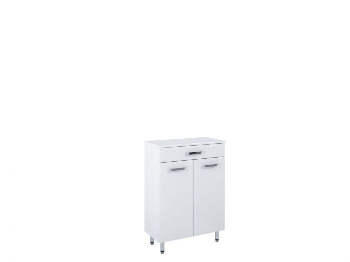 Amigo komoda stojąca 60 2D 1S 2 drzwiczek, 1 szuflada 600 x 291 x 841 mm biała