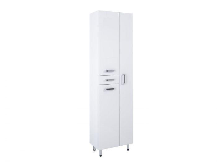 Amigo słupek stojący 50 3D 2S 3 drzwiczek, 2 szuflady 500 x 291 x 1820 mm biały z mechanizmem cichego domyku