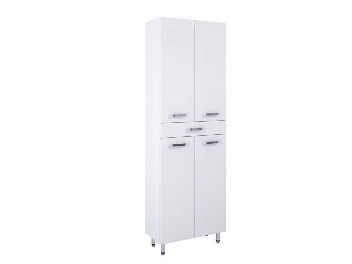 Amigo słupek stojący 60 4D 1S 4 drzwiczek, 1 szyflada 600 x 291 x 1820 mm biały z mechanizmem cichego domyku