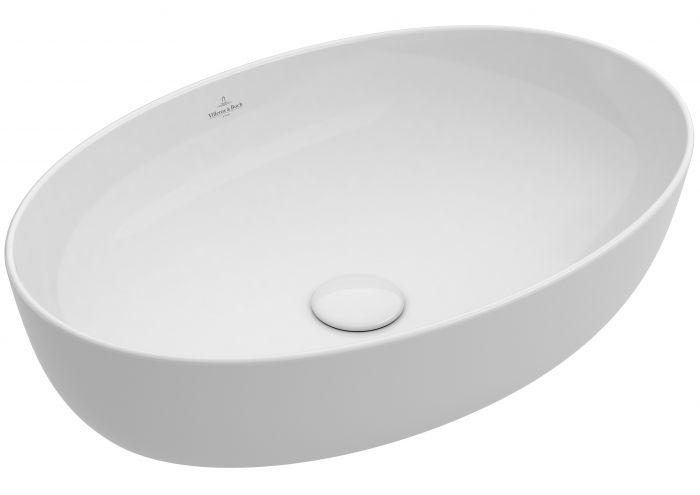 Artis umywalka nablatowa bez otworu bez przelewu 610 x 410 x 125 mm Weiss Alpin