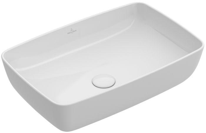 Artis umywalka nablatowa bez otworu bez przelewu 580 x 380 x 125 mm weiss alpin TitanCeram