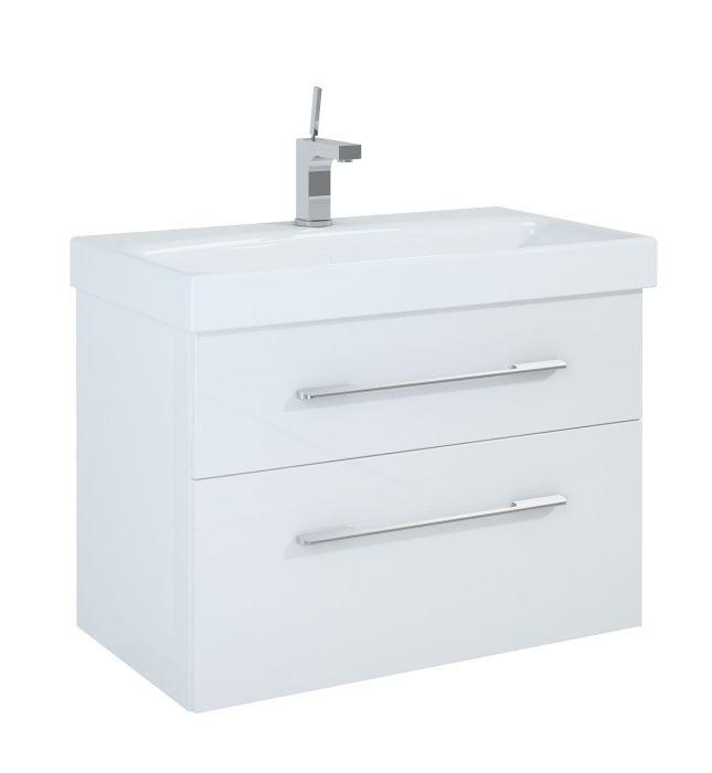 Barcelona szafka podumywalkowa podwieszana 80 2S 2 szuflady 800 x 420 x 540 mm biała z mechanizmem cichego domyku