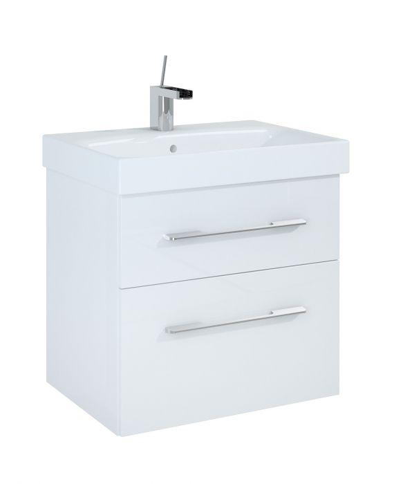 Barcelona szafka podumywalkowa podwieszana 60 2S 2 szuflady 600 x 420 x 540 mm biała z mechanizmem cichego domyku