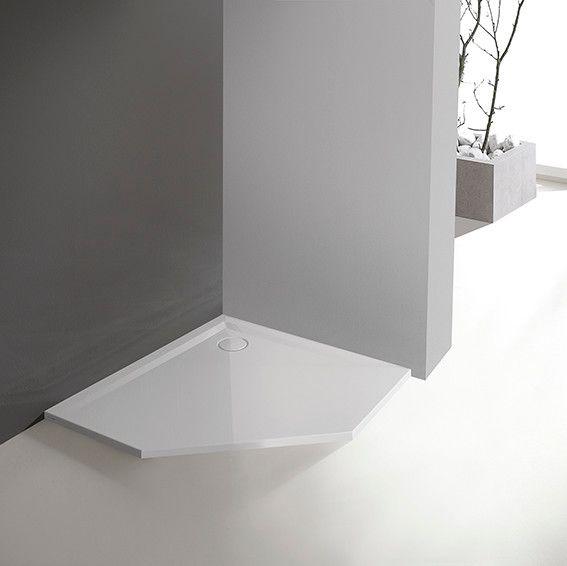 Space Mineral BPK-M/SPACE 90x90x1,5 brodzik akrylowy pięciokątny 90 x 90 x 3 cm biały EW