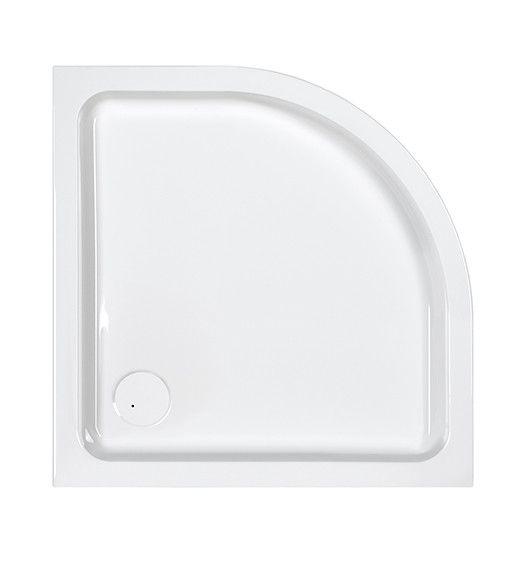 Free Line BP/FREE 80x80x9+STB brodzik akrylowy półokrągły 80 x 80 x 9 cm biały EW stelaż STB