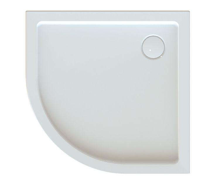 Free Line BPza/FREE 80x80x5 brodzik akrylowy półokrągły zabudowany 80 x 80 x 5 cm biały EW