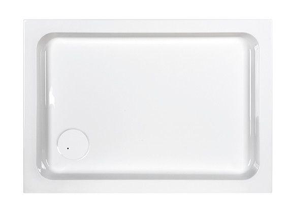 Free Line B/FREE 75x90x5+STB brodzik akrylowy prostokątny 90 x 75 x 5 cm biały EW stelaż STB