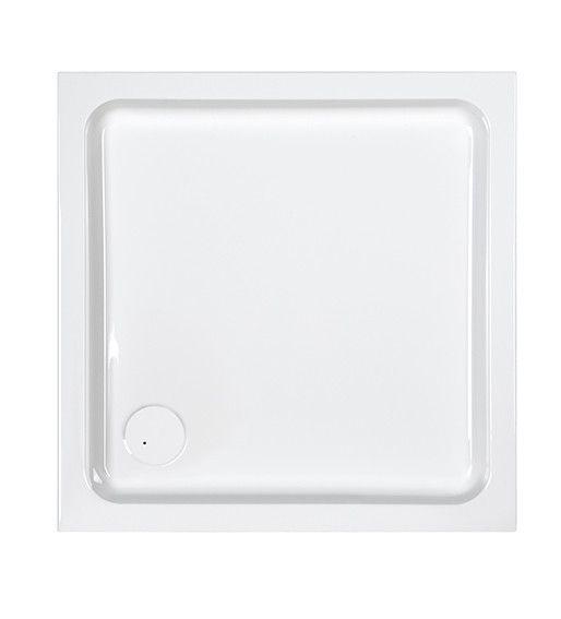 Free Line  B/FREE 80x80x2,5+STB brodzik akrylowy kwadratowy 80 x 80 x 2.5 cm biały EW