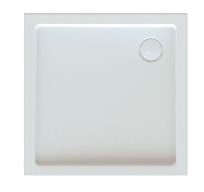 Free Line Bza/FREE 90x90x5 brodzik akrylowy kwadratowy zabudowany 90 x 90 x 5 cm biały EW