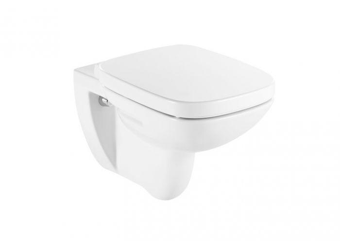 DEBBA miska WC podwieszana montaż do  ściany na stelażu z odpływem poziomym 35.5 x 54.5 x 40 cm biała 3/6 l