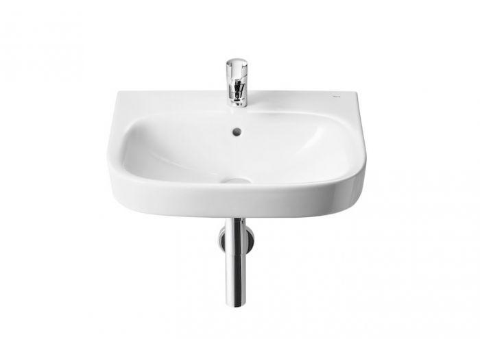DEBBA umywalka ścienna z otworem 500 x 420 x 140 mm biała z zestawem mocującym