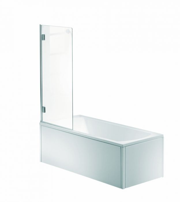 NIVEN parawan nawannowy 1-elementowy strona lewa 700 x 1400 mm chrom/srebrny szkło hartowane przezroczyste Reflex