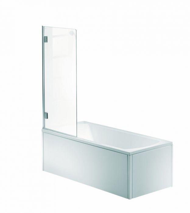 NIVEN parawan nawannowy 1-elementowy strona prawa 700 x 1400 mm chrom/srebrny szkło hartowane przezroczyste Reflex