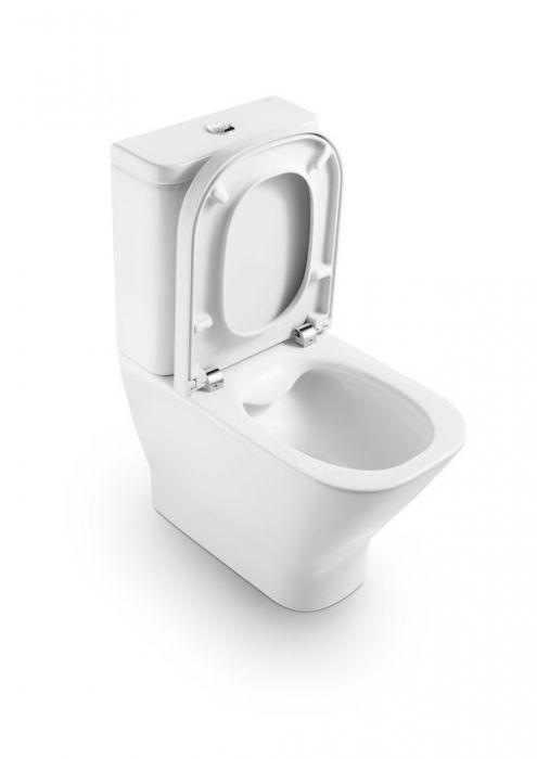 GAP miska stojąca, montaż do ściany odpływ podwójny 36.5 x 60 x 79 cm biała 3/6 l