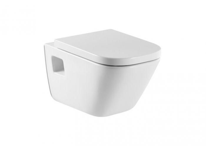 GAP miska WC podwieszana z kołnierzem zamkniętym montaż do  ściany na stelażu z odpływem poziomym 35 x 54 x 40 cm biała