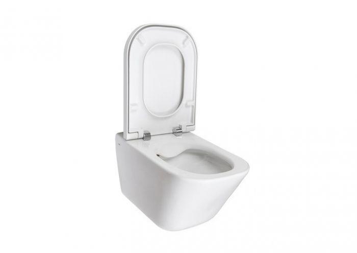 GAP miska WC podwieszana Rimless - bezkołnierzowa montaż do  ściany na stelażu z odpływem poziomym 35 x 54 x 40 cm biała 3/6 l