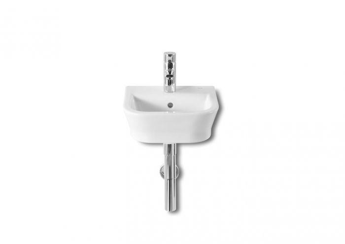 GAP umywalka ścienna COMPACTO z otworem 350 x 320 x 170 mm biała z zestawem mocującym