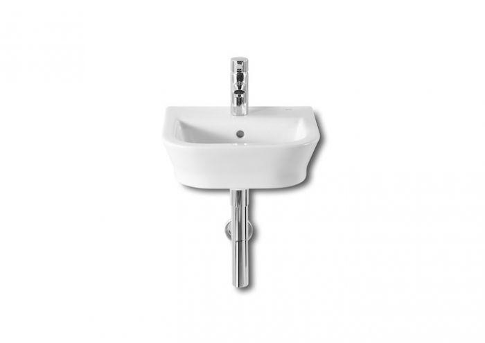 GAP umywalka ścienna COMPACTO z otworem 400 x 320 x 170 mm biała z zestawem mocującym