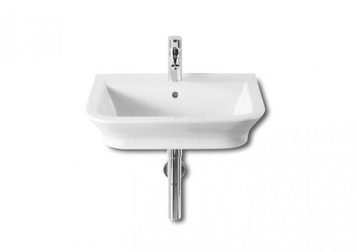 GAP umywalka ścienna/nablatowa z otworem 550 x 470 x 140 mm biała z powłoką MaxiClean z zestawem mocującym