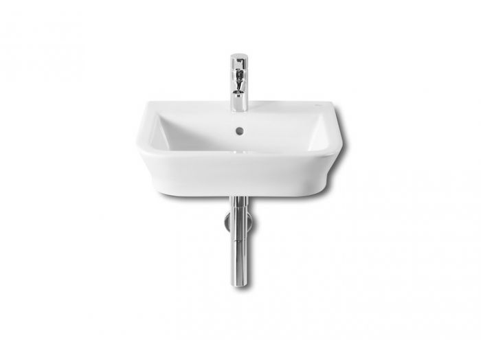 GAP umywalka ścienna/nablatowa z otworem 500 x 420 x 140 mm biała z zestawem mocującym