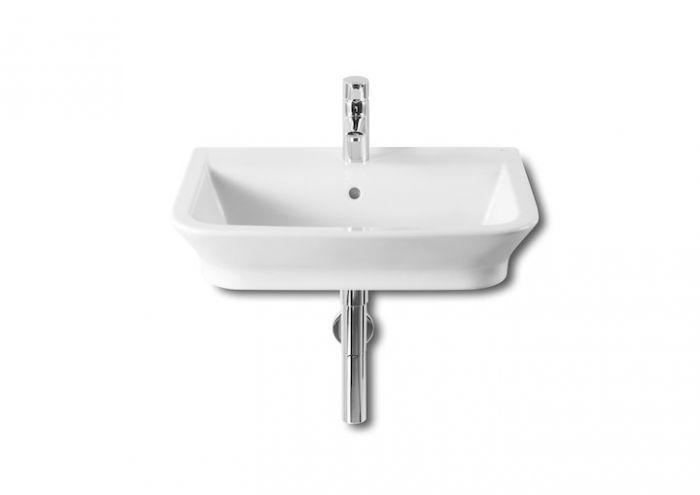 GAP umywalka ścienna/nablatowa z otworem 600 x 470 x 140 mm biała z zestawem mocującym