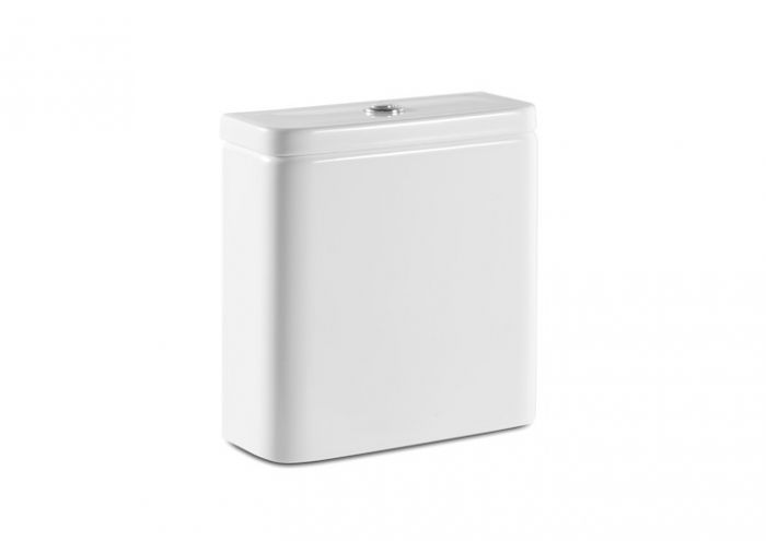 GAP COMPACTO zbiornik WC dopływ lewy z dołu 36.5 x 14 x 40.5 cm biały system spłukiwania 2/4 l lub 3/4,5 l