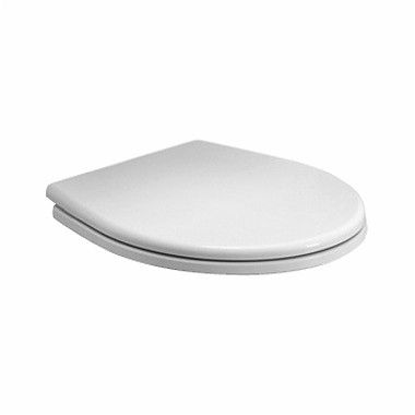 REKORD deska sedesowa z tworzywa Duroplast z zawiasami metalowymi biała