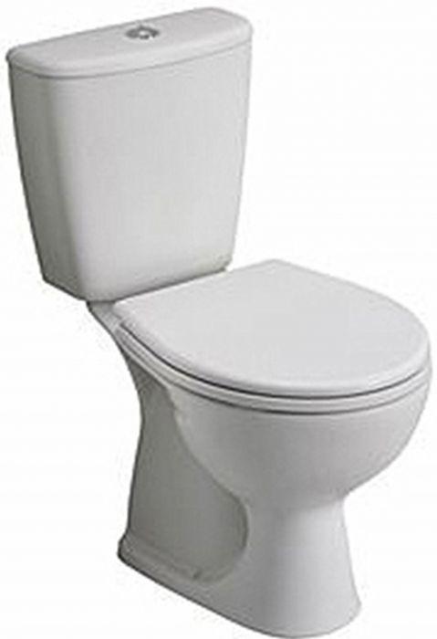 Rekord zestaw WC kompakt biały miska odpływ poziomy, spłuczka 6/3l
