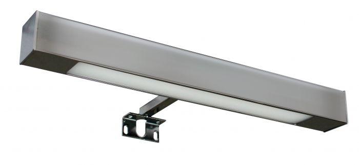 Kwadro kinkiet łazienkowy LED 1 x 3W chrom 300 x 30 x 84 mm