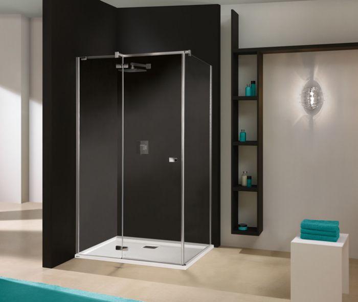 Free Line KNDJ2/FREE-80x100-S kabina narożna prostokątny 800 x 1000 x 1950 mm chrom/srebrny błyszczący szkło hartowane transparentne W0  Glass protect