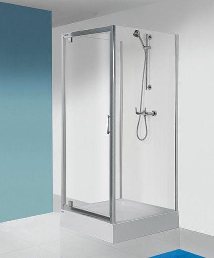 TX SS0/TX5b-80-S ścianka dodatkowa 800 x 1900 mm srebrna matowa szkło hartowane transparentne W0  Glass protect