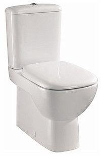 Style zestaw WC kompakt Rimfree 36.4 x 64 x 80 cm z powłoką Reflex miska odpływ uniwersalny, spłuczka 6/3l