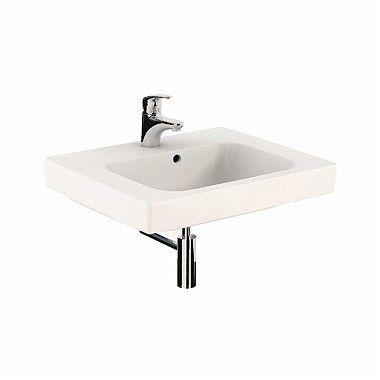 MODO umywalka wisząca z otworem z przelewem 600 x 485 mm biała